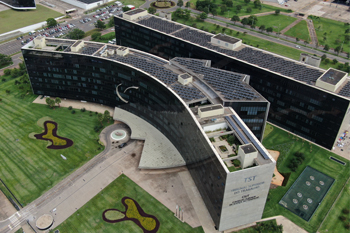 Vista aérea do edifício-sede do TST