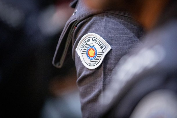 Detalhe de uniforme de policial militar