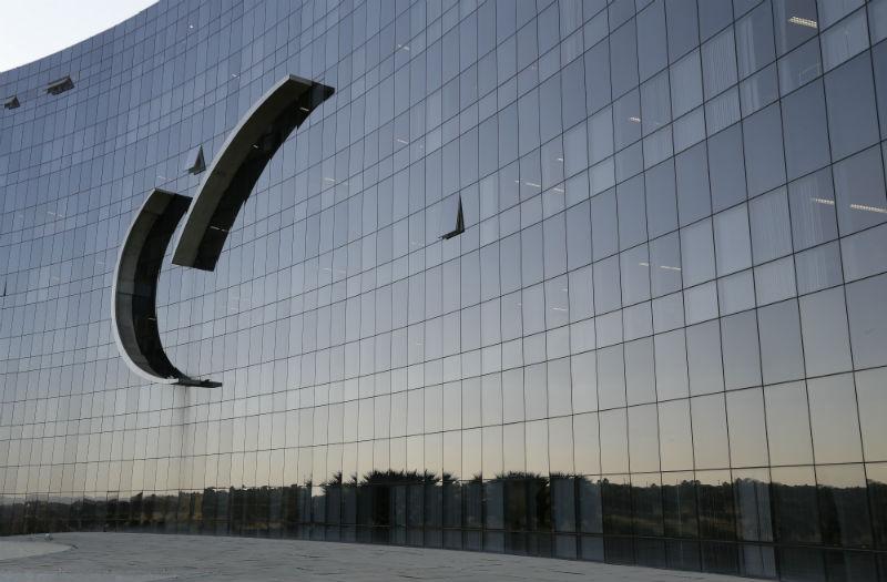 Detalhe da fachada do edifício-sede do TST
